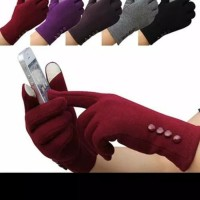 sarung tangan wanita touch screen sport winter