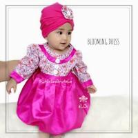 Baju Muslim Balita untuk Pesta - Blooming Dress 6bln-1thn
