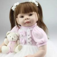 Boneka Reborn Kuncir Dua / Boneka Mirip Bayi NPK