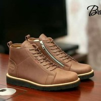 BRADLEYS BALDEV BROWN sepatu leather coklat tali kulit asli pria brodo