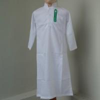 Baju Koko Gamis Jubah Putih Anak Laki - laki Lengan Panjang GAK 007L - Putih