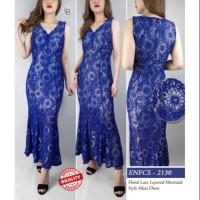LK13 Enfocus floral lace layered mermaid style maxi dress