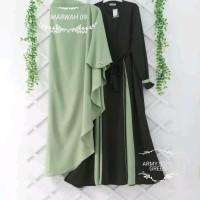 Baju Gamis Set Syari Wanita Terbaru - Marwah Syari Setelan Muslim RTM