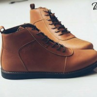 BRADLEYS ANUBIS TAN sepatu kulit asli formal pantofel leather brodo