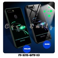 Casing Oppo F9 Glow In The Dark Softcase Jelly Full Protection