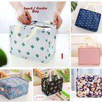 Lunch / Cooler Bag BENTUK KOTAK (Tas bekal dgn penahan panas/dingin)