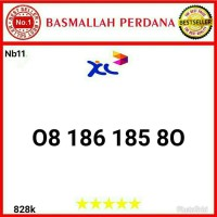 Nomor cantik XL 10 Digit seri 08 186 185 80 bn11