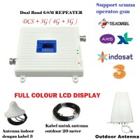 GSM Repeater 3G/4G HIGH POWER Dual Band ( 4G 1800Mhz Dan 3G 2100Mhz)
