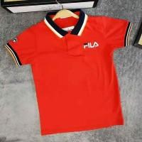 Kaos FILA branded anak NAVY dan RED remaja abg berkerah kaos kerah