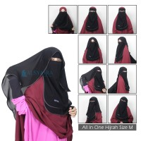 Bundling Niqab All In One Hijrah Size M Alsyahra Exclusive 9 Style