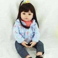 PO Boneka Reborn Jaket Biru Muda / Boneka Mirip Bayi NPK