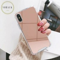 kaca mirror anticrack case iphone 5 5S SE 6 6S + 7 8 8 plus X XS MAX
