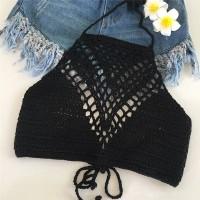 bralette tali ikat leher bra bikini brokat lace renda transparan