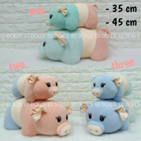 BONEKA BABI PIG SOFT COLORS CUSHION - 45 CM