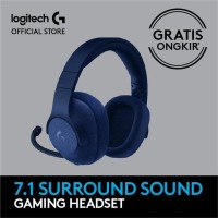 SUPER SALE Logitech G433 7 1 Surround Gaming Headset Blue H1he927 New