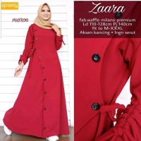 Produk New Baju Muslim Wanita Zarra Maxi Dress Terbaru