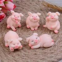 miniatur 5pcs pig family hobi pajangan koleksi patung babi dekorasi