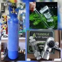 aquascape - paket tabung co2 5kg kandila kcr glass diffuser spiral