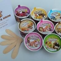 Paper Cup Kertas Es Krim Ice Cream 50 ml lengkap Tutup Sendok komplit