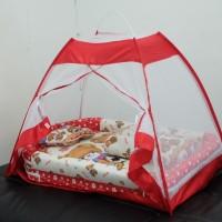 1 set kasur bayi tenda, kasur bayi kelambu,bantal guling