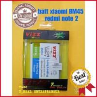 Battery Baterai Batre Double Power VIZZ Xiaomi Redmi Note 2 BM45