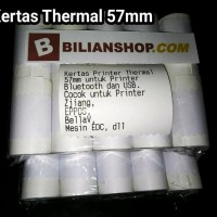 New Kertas Thermal 57 X 25 Mm 58 X 25 Mm Untuk Printer 58Mm 10 Roll
