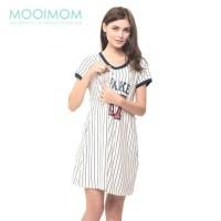 Baseball Nursing Dress Baby Clothes Baju Hamil Menyusui Couple Ibu