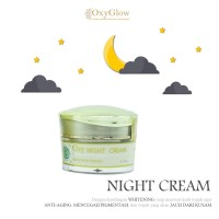 Night Cream OxyGlow Whitening - Krim Malam Orginal OxyGlow 12.5gr