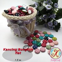 Kancing Bungkus Flat 1,5cm Polka per 100 pcs