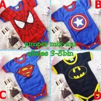 Jumper Romper Baju Bayi Lucu Karakter Superhero