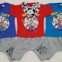 Setelan Anak Bayi Baju Anak Bayi Slabber Bayi Waltdisney Mickeymouse