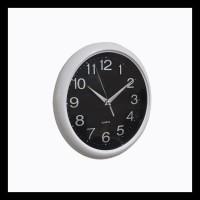 JAM DINDING PLASTIK NE-1692 DIM 8.5 INCHI 25X25 CM WHITE/BLACK (10708)