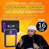 Flashdisk 16GB Full Video Ceramah Ust Khalid Basalamah Vol 4