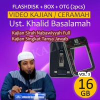 Flashdisk 16GB Ust Khalid Basalamah Vol 3 - Kajian Sirah Nabawiyyah
