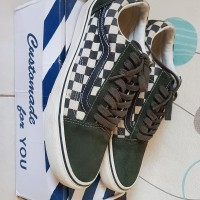Sneakers Vans Old Skool Checkerboard Black Rosin
