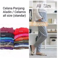 Celamis All Size Regular - Celana Panjang Wanita Model Aladin Muslim - marun