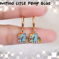 xuping/perhiasan lapis emas anting anak little pony blue