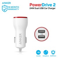 Charger Mobil Anker PowerDrive 2 White - A2310