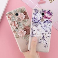 Soft Case Flower Xiaomi Redmi Note 4 4X 5 6 Pro Silikon Bunga