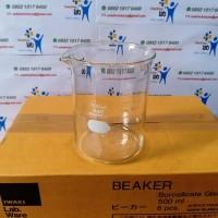 Beaker Glass 500 ml IWAKI ORIGINAL Gelas Piala Gelas kimia