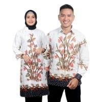 Batik Couple - Atasan Wanita Tunik Kemeja Pria Lengan Panjang Bambu