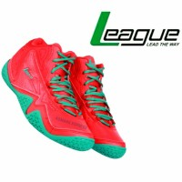 League Original Levitate LA M Sepatu Basket - Red Tourqies