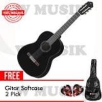 Yamaha Gitar Akustik C-40 / C 40 / C40 - Hitam + Softcase & 2 Pick