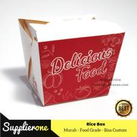 Kemasan Rice box Foodpail   Kardus foodpail   Dus Rice Box Uk M isi 50