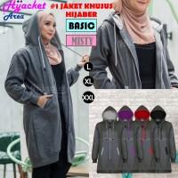 Jaket Hijab Wanita Muslimah Hijacket Basic Misty 2, All size M fit L