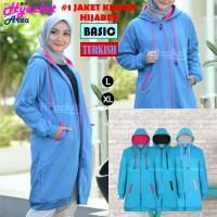 Jaket Hijab Wanita Muslimah Hijacket Basic Turkish, All size M fit L