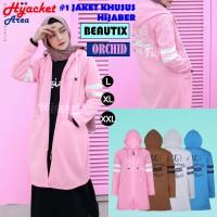Jaket Hijab Wanita Muslimah Hijacket Beautix Orchid, All size M fit L