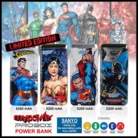 Terlaris Powerbank Sanyo Probox Justice League 5200Mah (Dc Comic