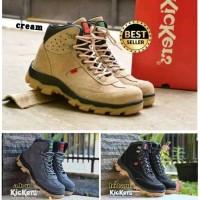 A88 sepatu kulit kickers boot safety ujung besi tracking adventure