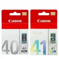 tinta canon BLK40+CL41 PAKETAN ORIGINAL